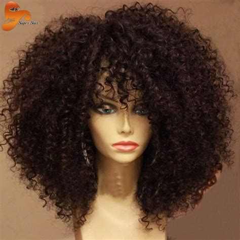 Kinky Curly Human Hair Full Lace Front Wigs | brazilian unprocessed virgin hair full lace wig kinky