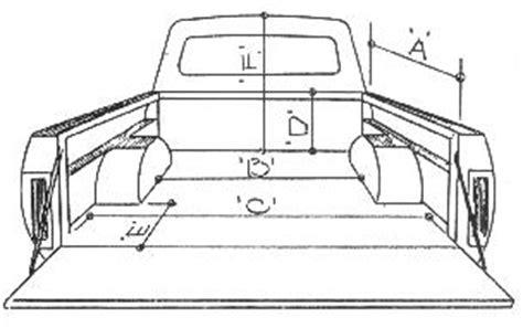 standard truck bed size glen l cer truck dimensions