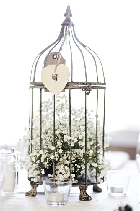 Baby S Breath In A Birdcage For The Dinner Table S Birdcage Centerpieces Weddings