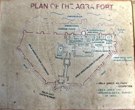 layout plan of red fort agra fort agra fort history agra fort pictures about