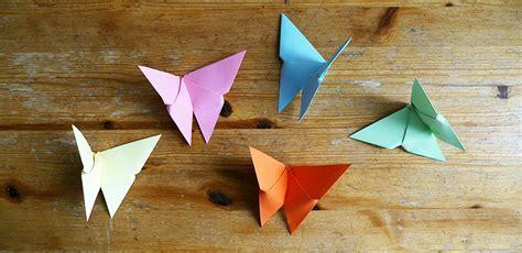 Mit Origami - origami schmetterlinge mit kindern basteln