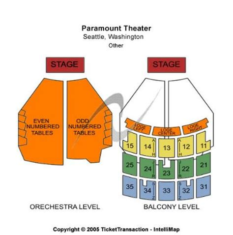 paramount seattle seating paramount theatre tickets and paramount theatre seating
