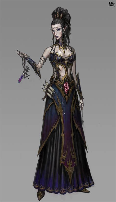imagenes de elfas oscuras hex