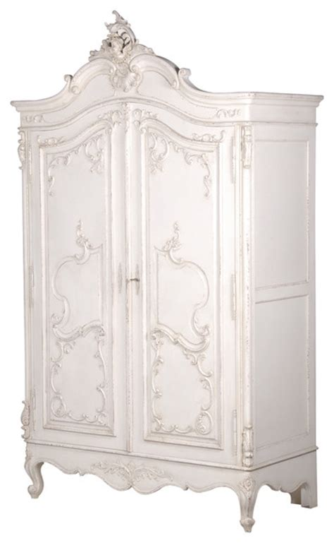 Chic Armoire by Delphine Distressed Shabby Chic Armoire
