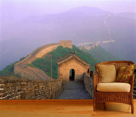 reusable wall murals great wall of china wall mural 12 wide by 9 high ebay