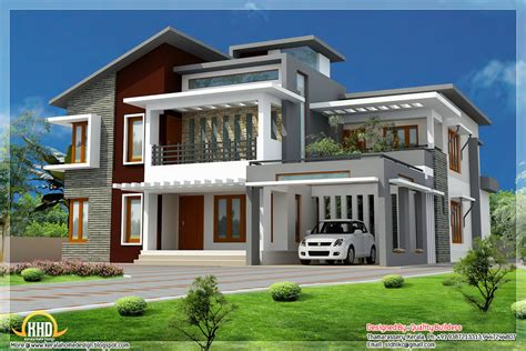 superb home design contemporary modern style kerala house design idea