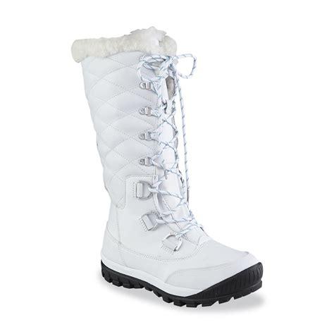 bearpaw s white waterproof winter boot