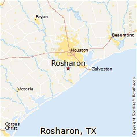rosharon texas map best places to live in rosharon texas