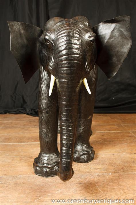 elephant statue vintage leather elephant statue elephants