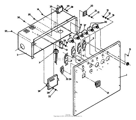 troy bilt 3250 3500 generator wiring diagram wiring
