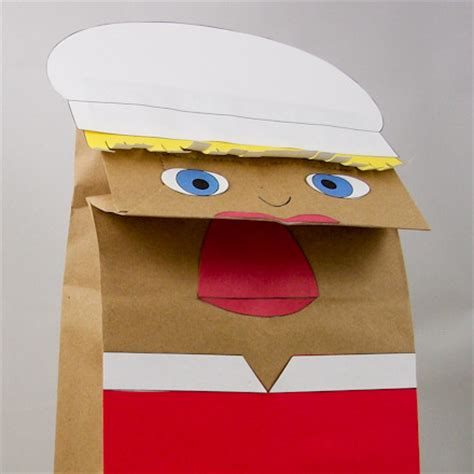 How To Make Paper Bag Puppets - paper puppet www pixshark images galleries