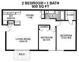 How Big Is 900 Square Two Bedroom Apartment D Plan Apartment For Rent At River