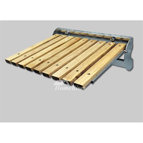 stainless steel folding shower seat wooden shower seat largen oak stainless steel folding