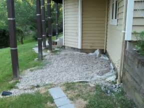 Walkout Basement Backyard Ideas Drain Did I Do The Right Thing Putting Small Stones