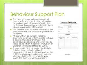 behaviour guidance plan template meeting the needs of children with special needs