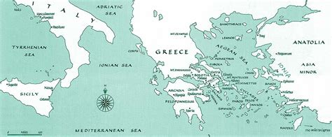 map of archaic greece unit 11 ancient greece geography maps social sciences
