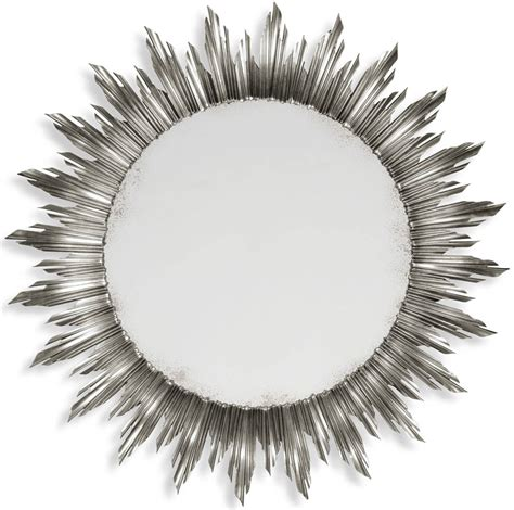home design studio large sunburst mirror sunburst mirrors 18in beveled silver sunburst mirror