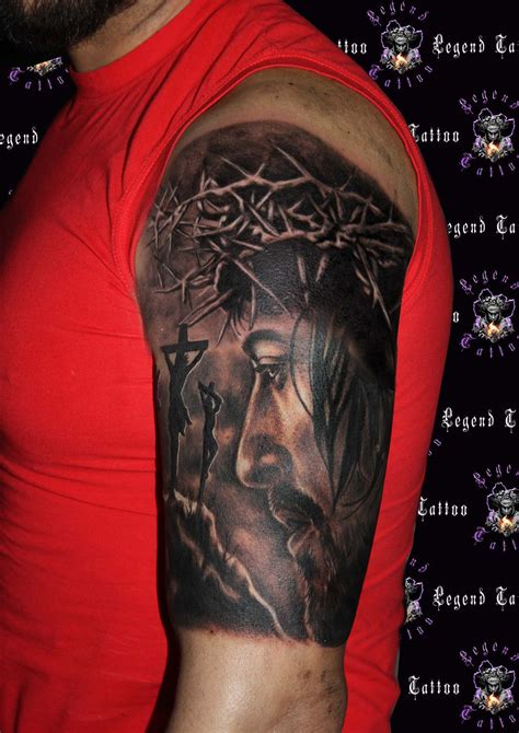 jesus christ tattoo jesus www legendtattoo gr portrait jesus