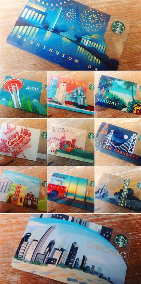 Starbucks Online Gift Card Canada - starbucks pays homage to the u s with a series of namesake city cards popsop