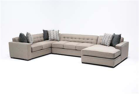 raf chaise sectional corbin 3 piece sectional w raf chaise living spaces