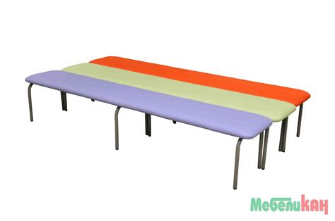 bench can bench metal and leather without backrest 180х30 h 40cm