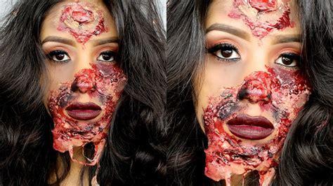 tutorial zombie the walking dead maquillaje de halloween princesa zombie quemada tutorial