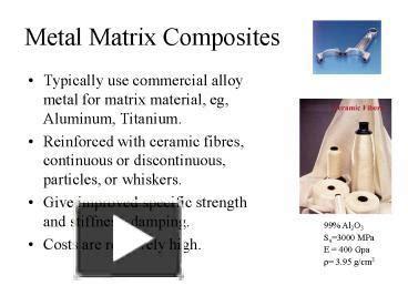 ppt metal matrix composites powerpoint presentation