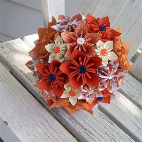 Origami Flower Bouquet Tutorial - origami bouquet wreaths paper flowers