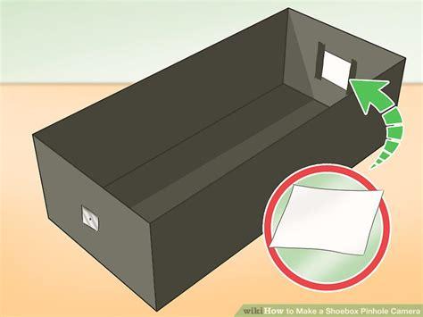 make pinhole 3 ways to make a shoebox pinhole wikihow