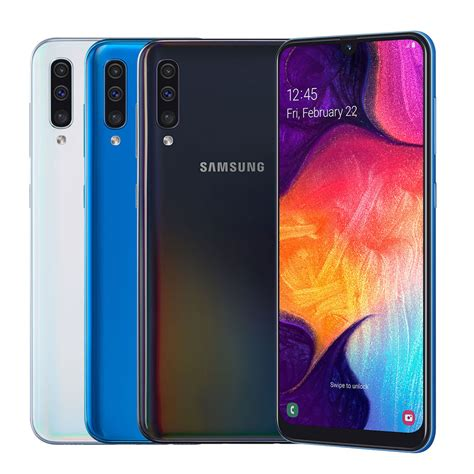 Samsung Galaxy A50 On by Samsung Galaxy A50 Smartphone Cellucity Shop