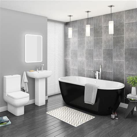 pro  black modern  standing bath suite victorian