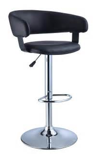 leather and chrome bar stools powell black faux leather barrel chrome adjustable height bar stool 212 915