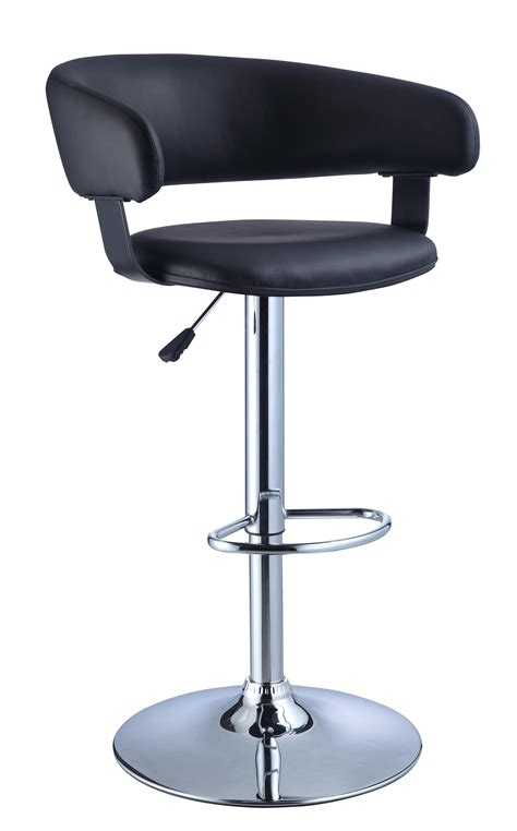 chrome bar stools chrome metal adjustable bar stools with black leather