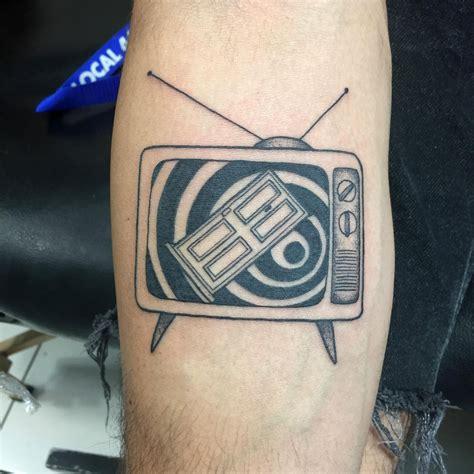 tattoo zone twilight zone intro on an tv set by liz