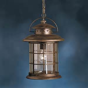 Outdoor Rustic Light Fixtures Shop Kichler Lighting Rustic 17 75 In Rustic Outdoor Pendant Light At Lowes