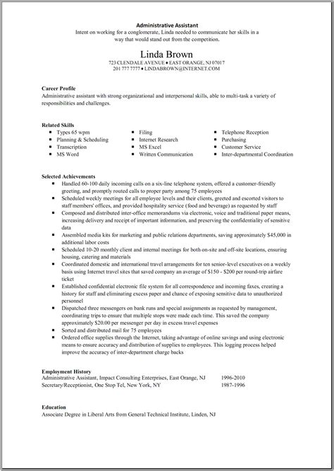 Great Resume Administrative Assistant Great Administrative Assistant Resumes Administrative Assistant Resume Resume