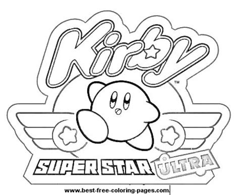 Kirby Super Star Coloring Page | kirby ultra super star coloring page kirby coloring