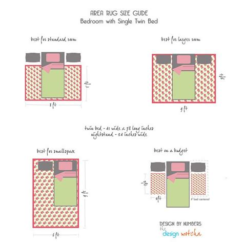 area rug bedroom placement rugs 101 area rug size guide single bed by design