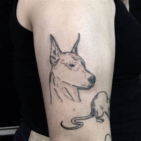 simple rat tattoo 54 latest doberman tattoos