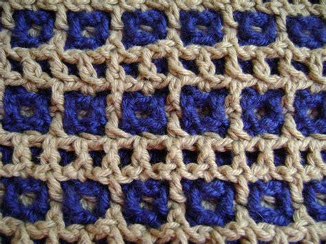 how to crochet tracks interlocking crochet honeycomb railroad tracks design