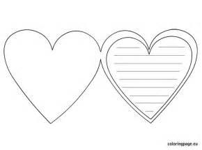 heart card template valentine s day pinterest heart