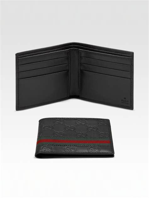 gucci bi fold wallet in black for lyst