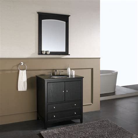 31 bathroom vanity 31 quot lorenzo single bath vanity ebony bathgems com