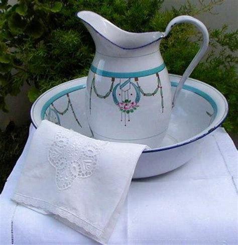 bathroom jug and bowl set french enamelware pitcher bowl bath set victorian wash