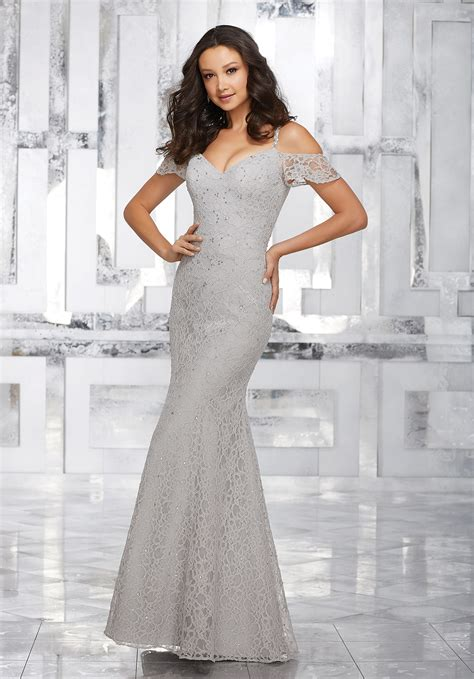 Lace Bridesmaid Dress lace bridesmaids dress with beading and cold shoulder