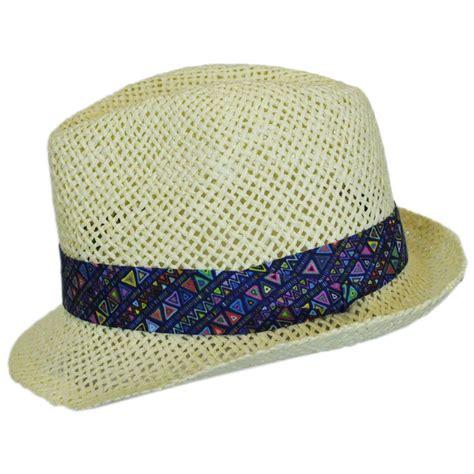 toddler fedora hat san diego hat company toddler s azteca toyo straw fedora