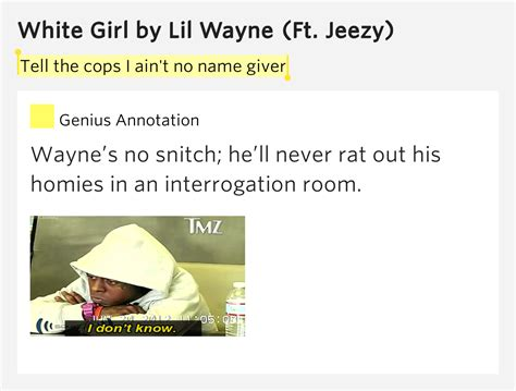 White Room Lyrics Meaning by Tell The Cops I Ain T No Name Giver White Lyrics