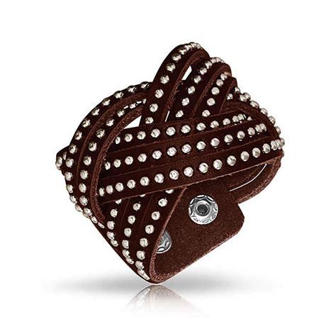 studded black leather cuff bracelet best bracelet 2017