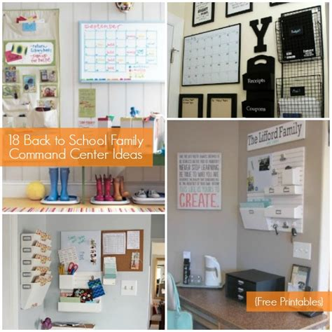 family organization family command center ideas and free organization
