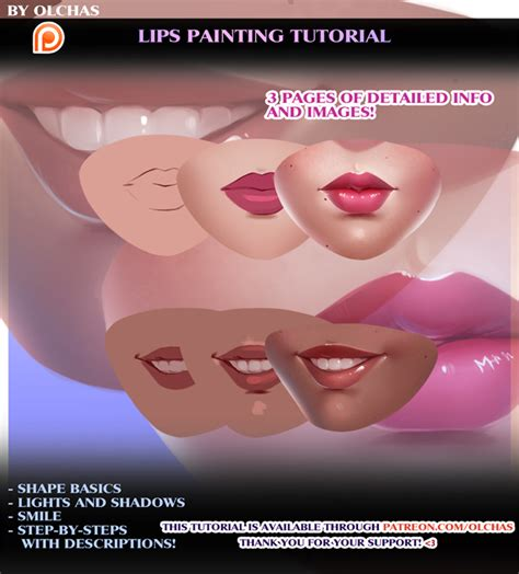 watercolor lips tutorial lips painting tutorial preview by olchas on deviantart